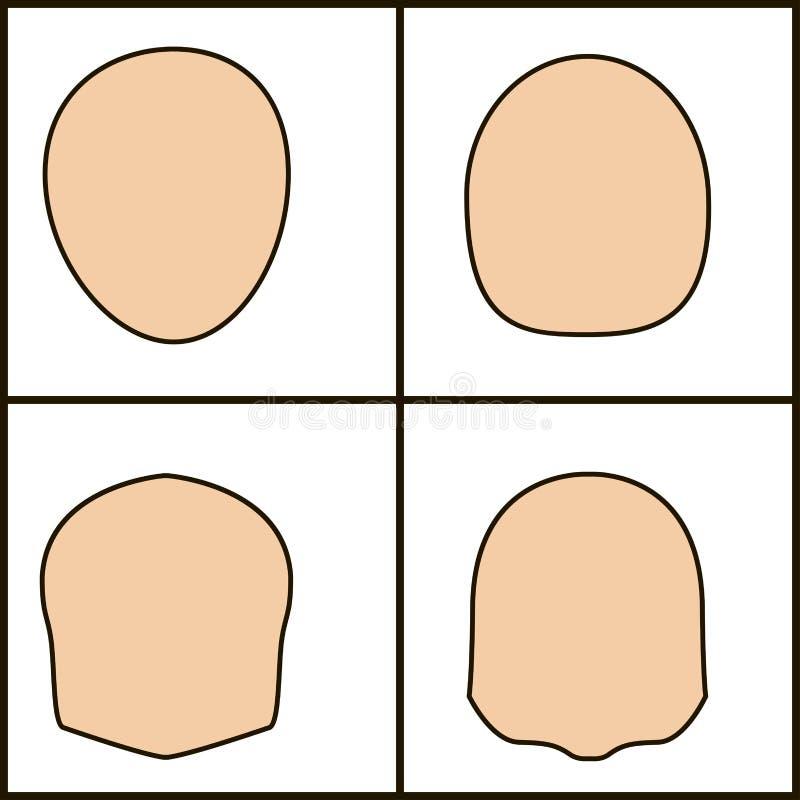 Forme differenti di fronte, icoka di vettore profilo cesellato royalty illustrazione gratis