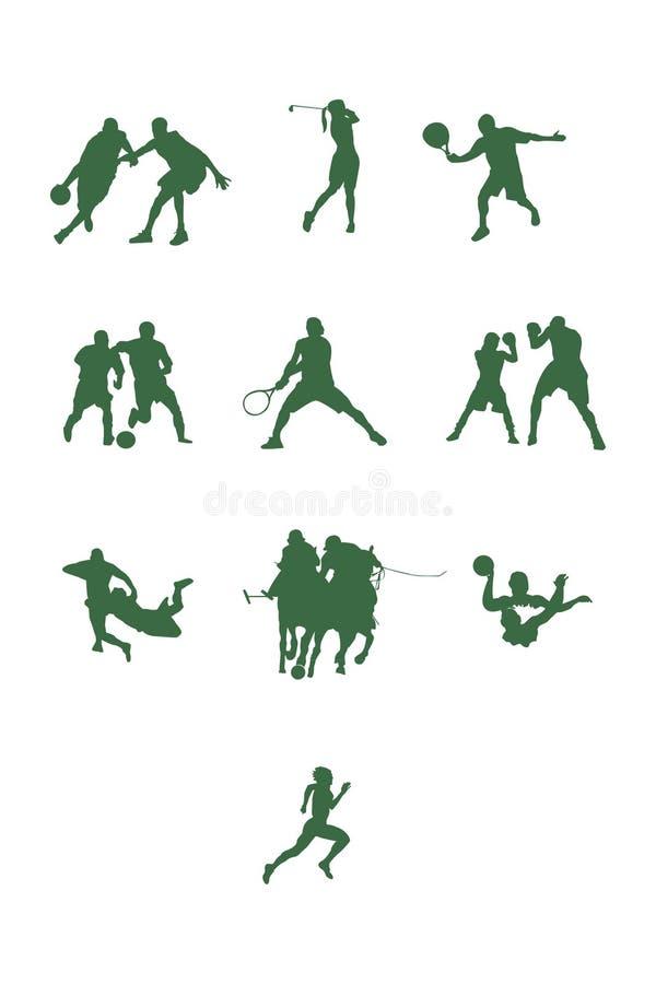 Forme differenti di sport nel verde immagine stock