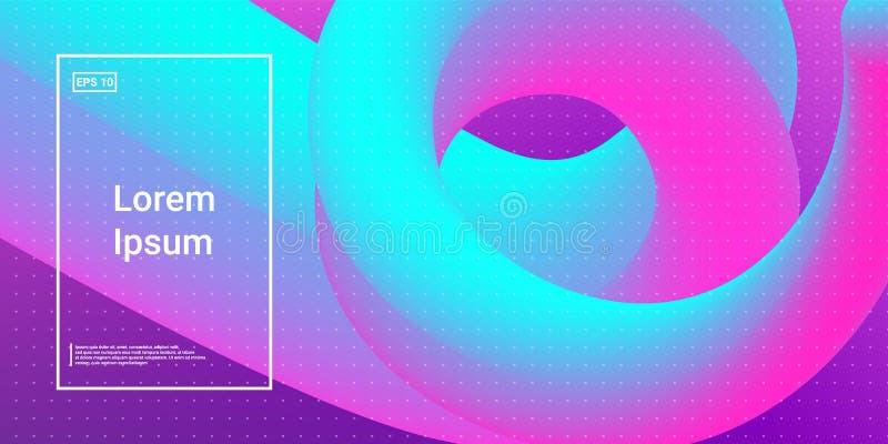 Forme dinamiche moderne di flusso con effetto fluido di incandescenza illustrazione di stock