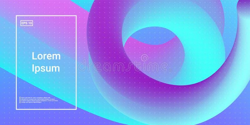 Forme dinamiche moderne di flusso con effetto fluido di incandescenza royalty illustrazione gratis