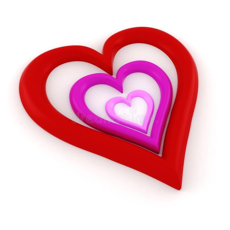 Forme Du Coeur 3d Photos stock
