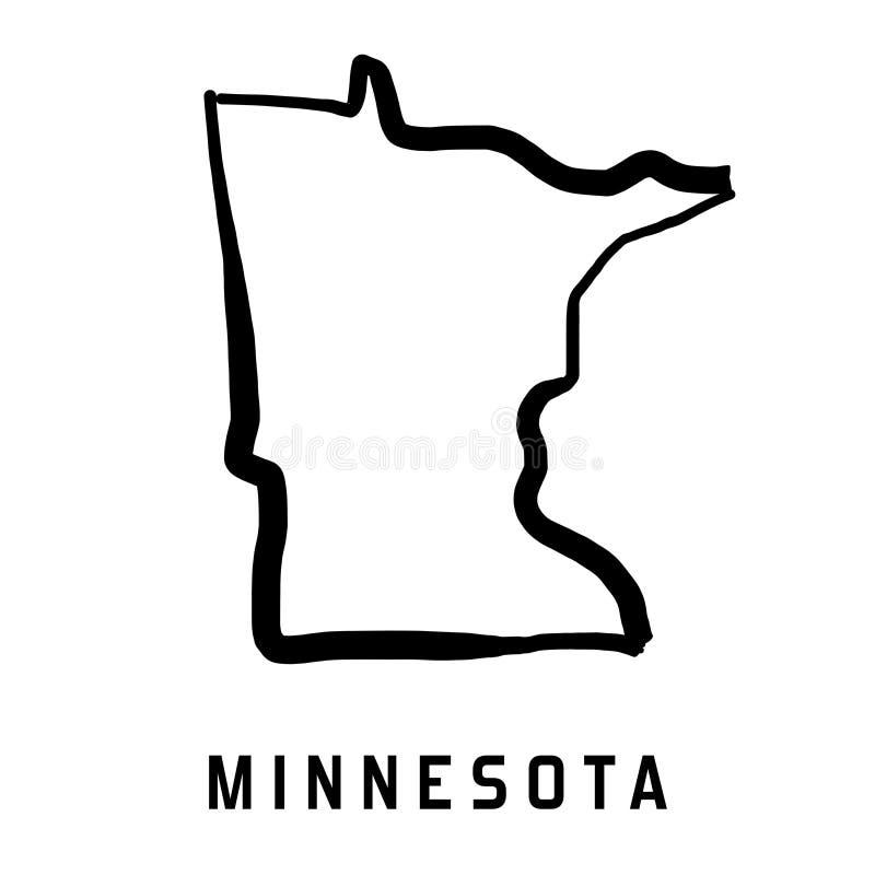 Forme du Minnesota illustration libre de droits