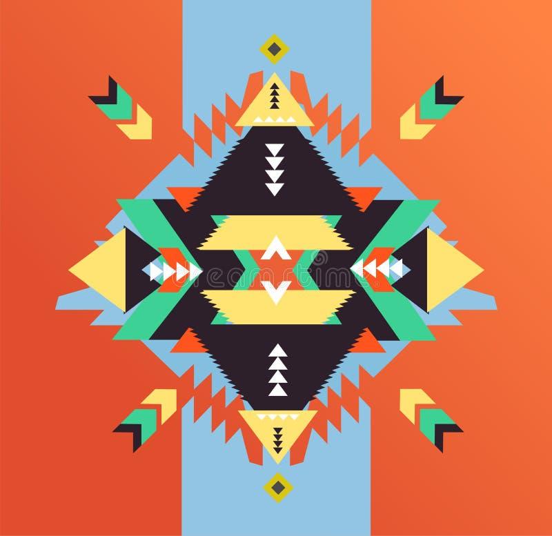 Forme el mexicano, Navajo o al Azteca, modelo del nativo americano ilustración del vector
