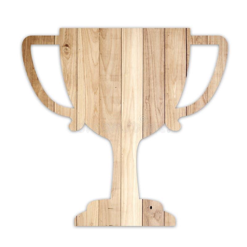 Forme en bois de trophée images stock
