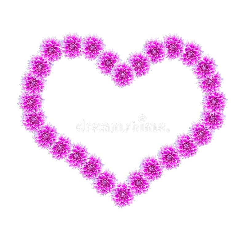 Forme en forme de coeur de fleurs photo stock