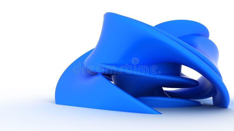 Forme en plastique bleue abstraite illustration libre de droits