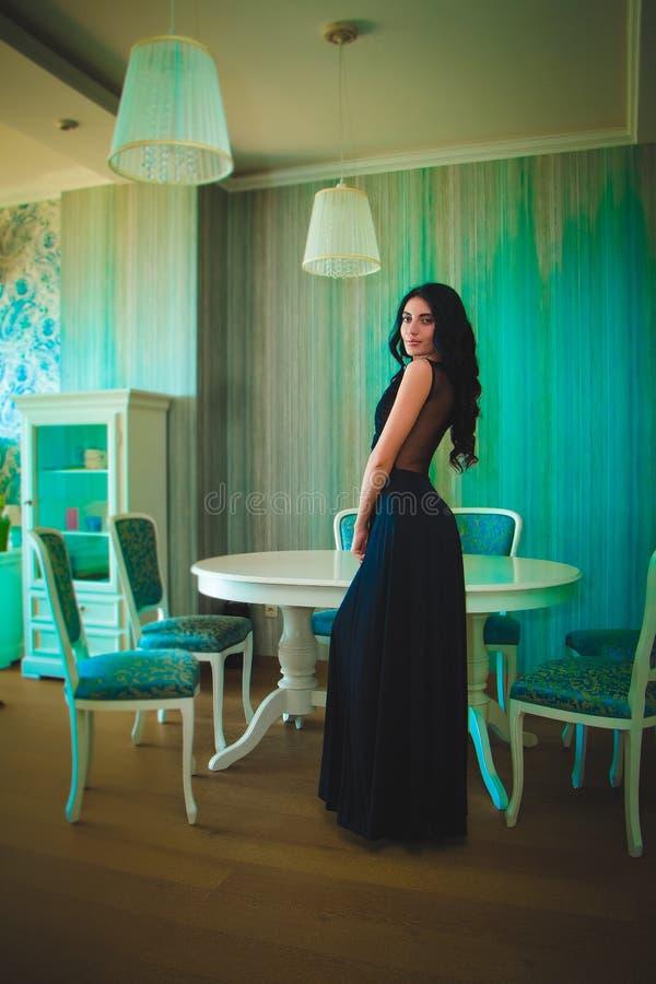 Forme a foto da mulher luxuosa com cabelo longo fotos de stock