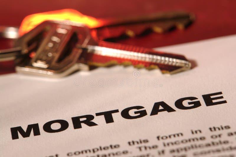 Forme générique d'hypothèque d'immeubles images stock