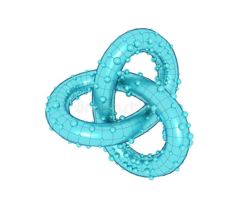 Forme géométrique abstraite avec le noeud de minette illustration de vecteur