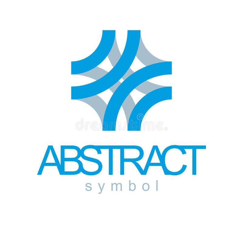 Forme géométrique abstraite de vecteur meilleure pour l'usage comme innovat d'affaires illustration stock