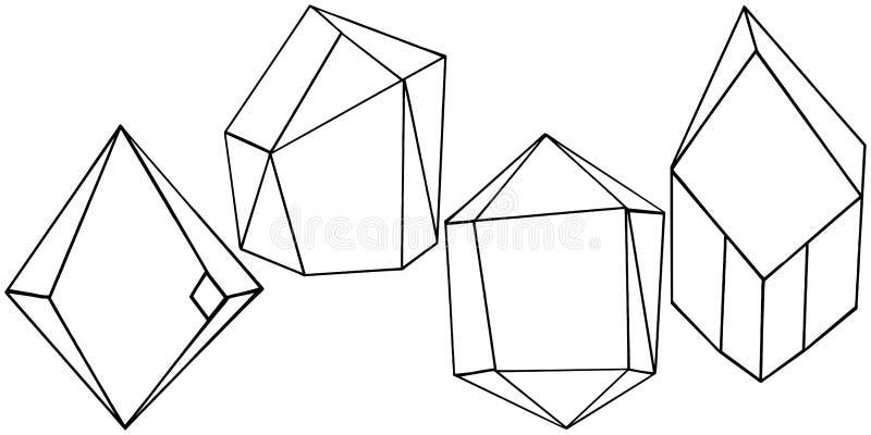 Forme géométrique de vecteur Élément d'isolement d'illustration Forme de mosaïque illustration stock