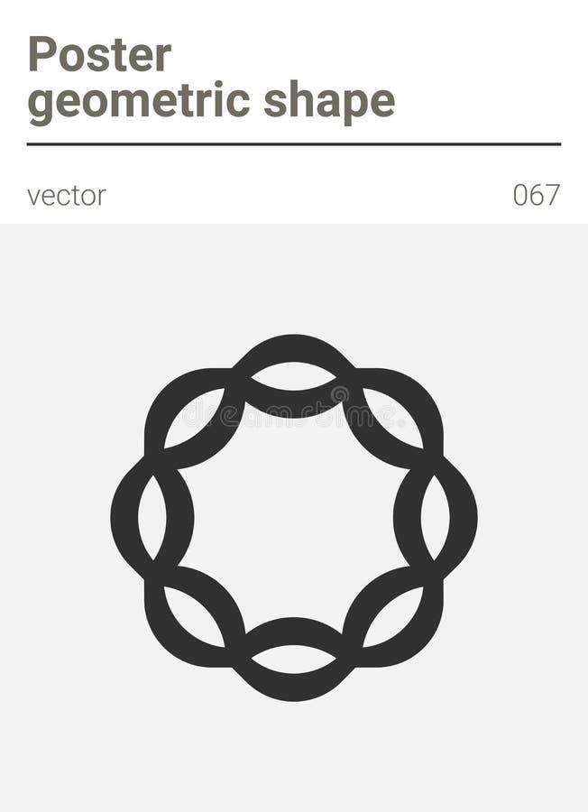 Forme géométrique minimale de vecteur d'affiche illustration de vecteur