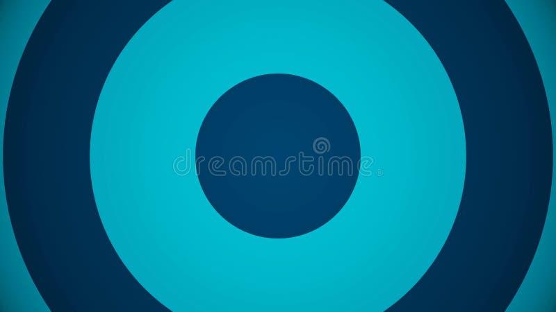 Forme géométrique ronde Fond abstrait de l'aspect des cercles du centre illustration libre de droits