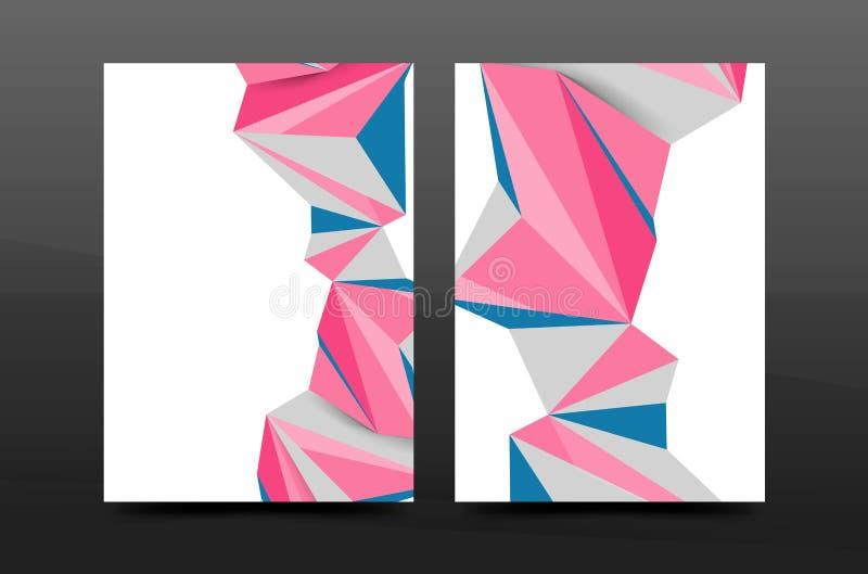 forme geometriche astratte 3d Composizione minima moderna Progettazione della copertura del rapporto annuale di affari royalty illustrazione gratis