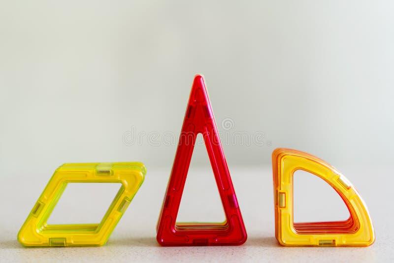 Forme geometriche del ` s dei bambini Triangolo, rombo immagine stock