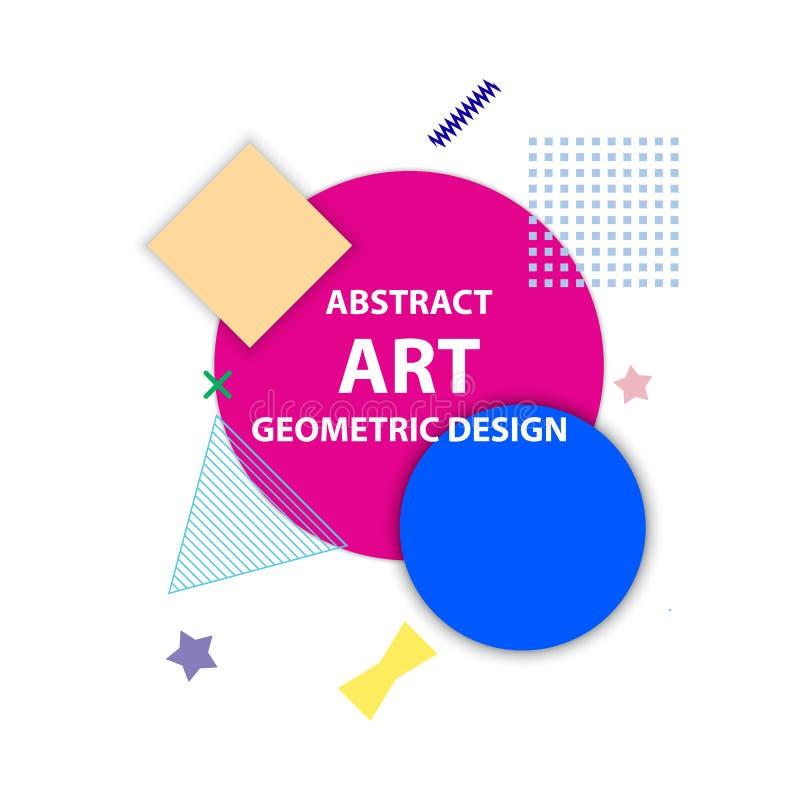 Forme geometriche di astrattismo illustrazione vettoriale
