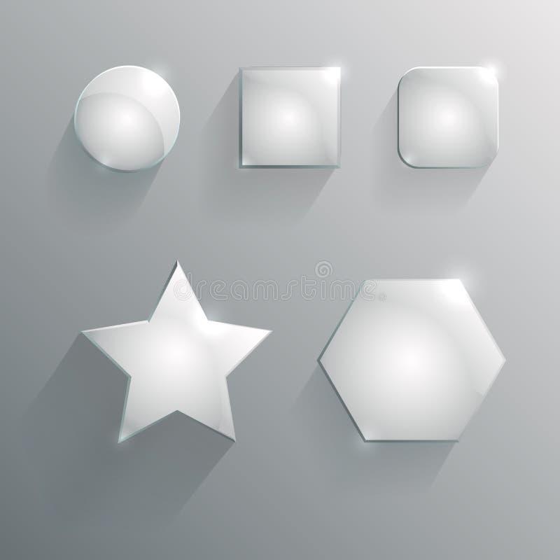 Forme geometriche di vetro illustrazione vettoriale