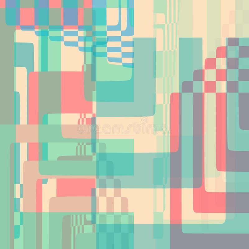 Forme geometriche di vettore del fondo astratto dell'illustrazione royalty illustrazione gratis
