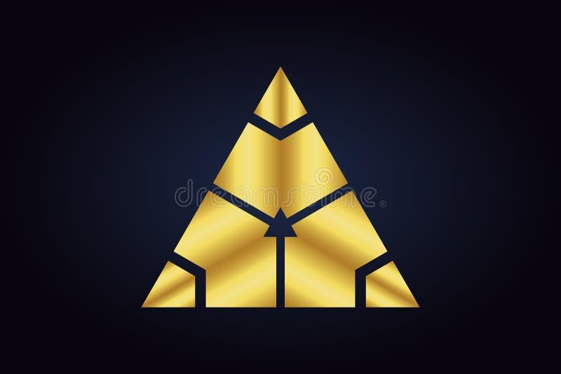 Forme geometriche rispecchiate nei colori dell'oro e dell'argento royalty illustrazione gratis