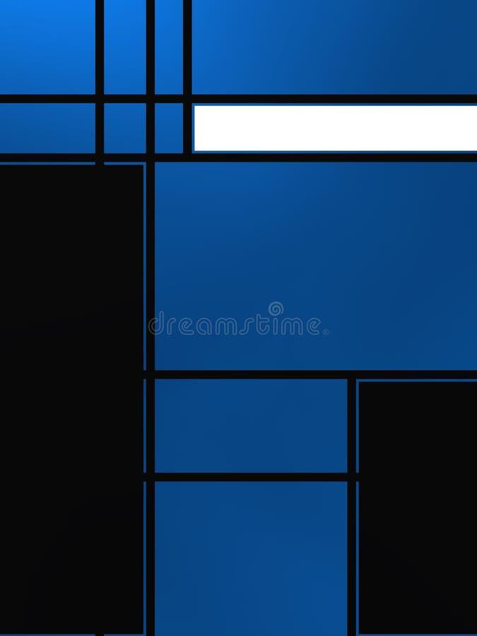 Forme geometriche sopra la lampadina bluastra fotografia stock