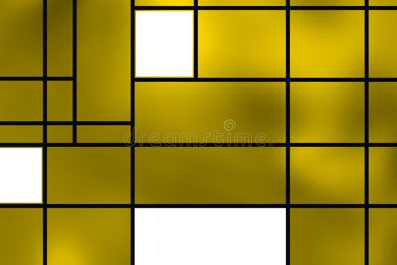 Forme geometriche sopra la lampadina dorata immagini stock