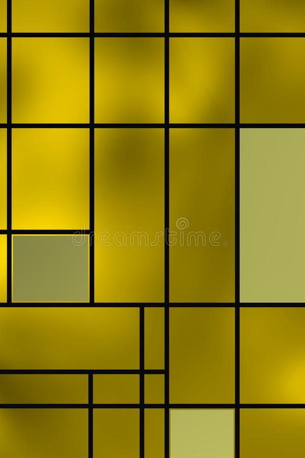 Forme geometriche sopra la lampadina giallastra fotografia stock libera da diritti