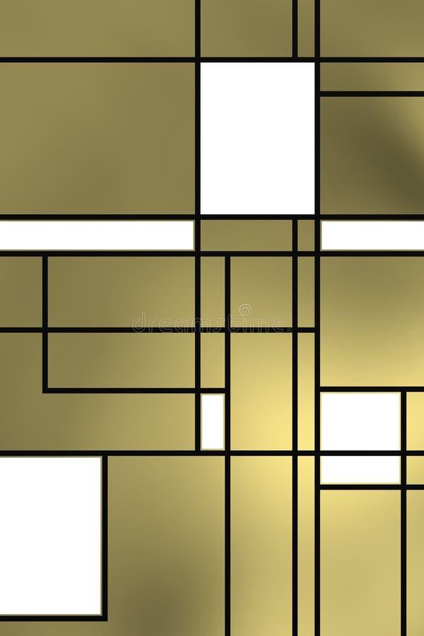 Forme geometriche sopra la lampadina grigiastra fotografia stock