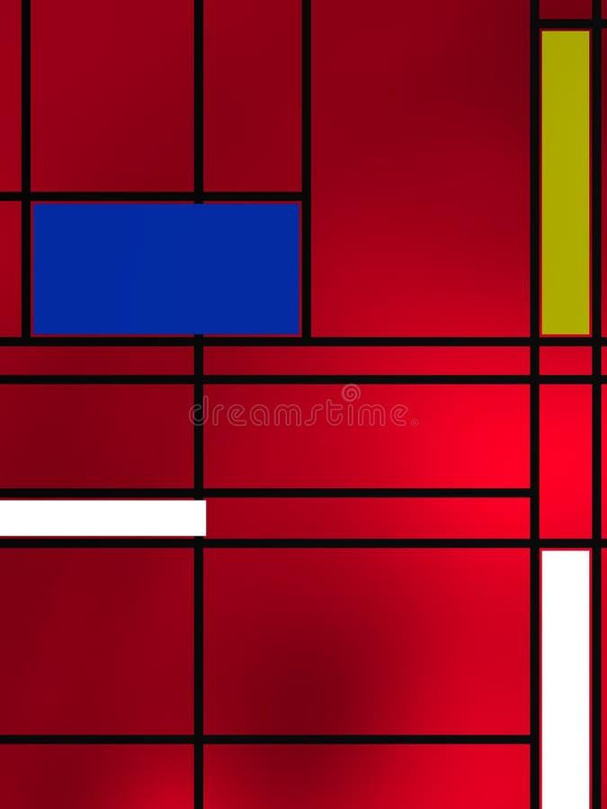 Forme geometriche sopra la lampadina reedish immagini stock libere da diritti