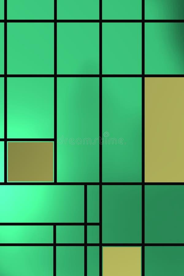 Forme geometriche sopra la lampadina verdastra immagine stock libera da diritti