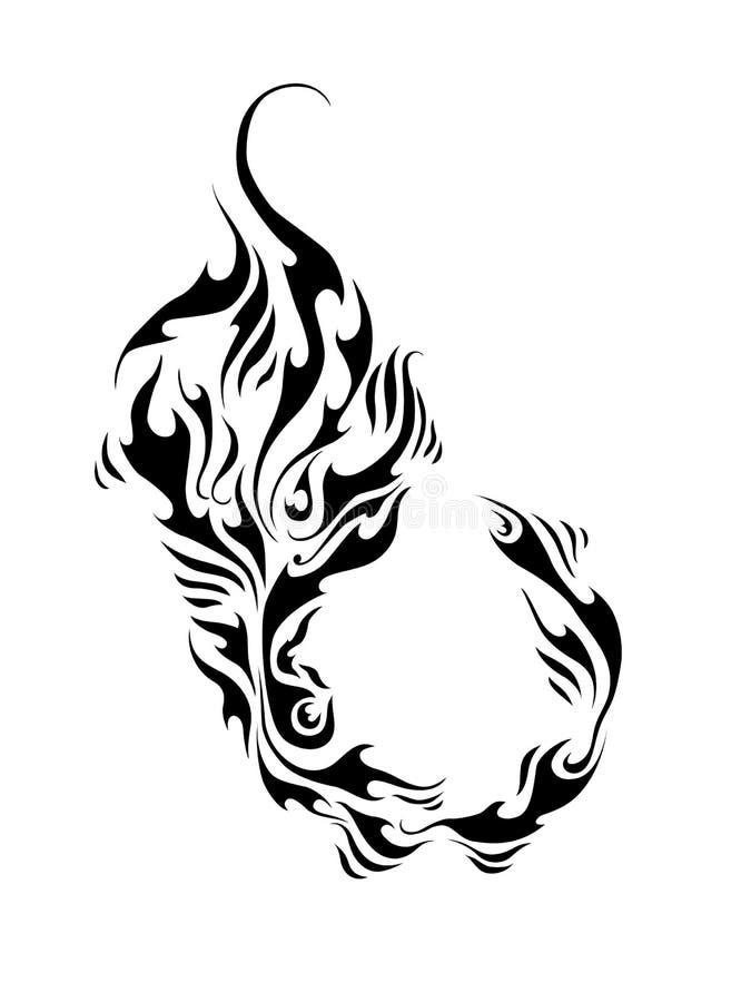 Forme graphique abstraite de vecteur Élément de conception de tatouage, de logo ou de modèle illustration libre de droits