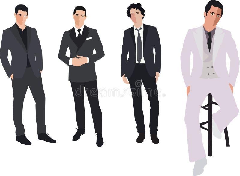 Forme homens ilustração do vetor