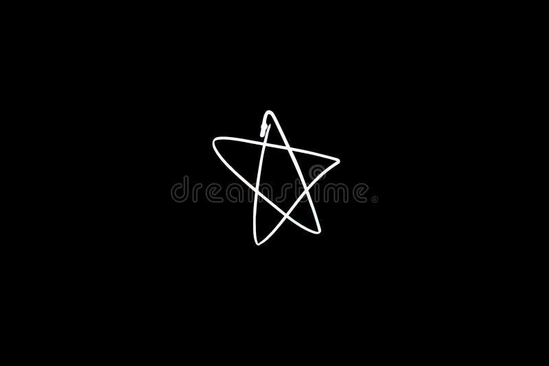 Forme légère d'étoile de peinture image stock