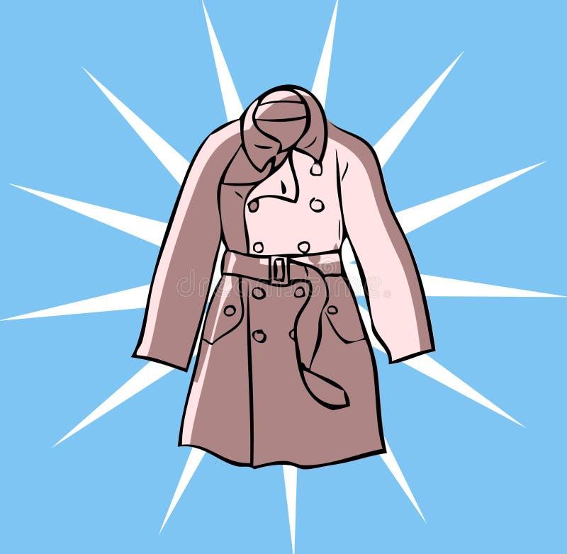 Forme la capa de la ropa del foso stock de ilustración