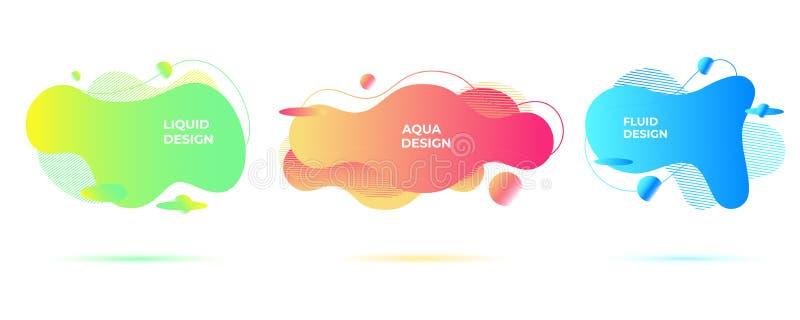 Forme liquide astratte Forme scorrenti organiche Ambiti di provenienza fluidi vivi illustrazione di stock