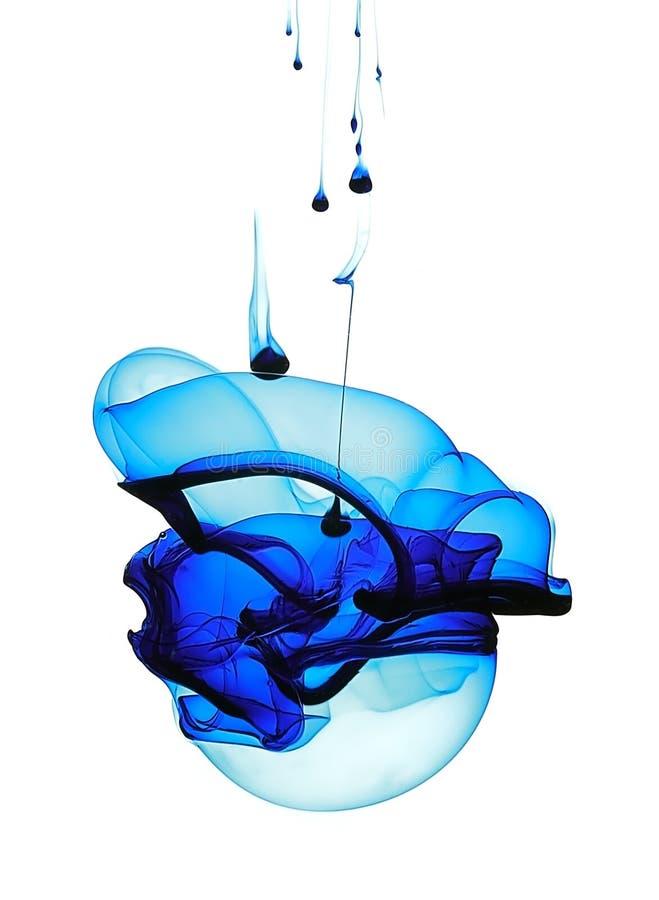 forme liquide bleue photo stock