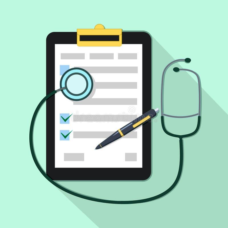 Forme médicale pour remplir patient, accord juridique illustration libre de droits
