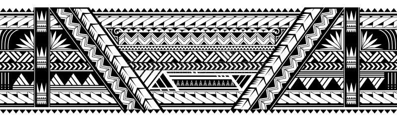 Forme maorie de tatouage de brassard de style illustration de vecteur