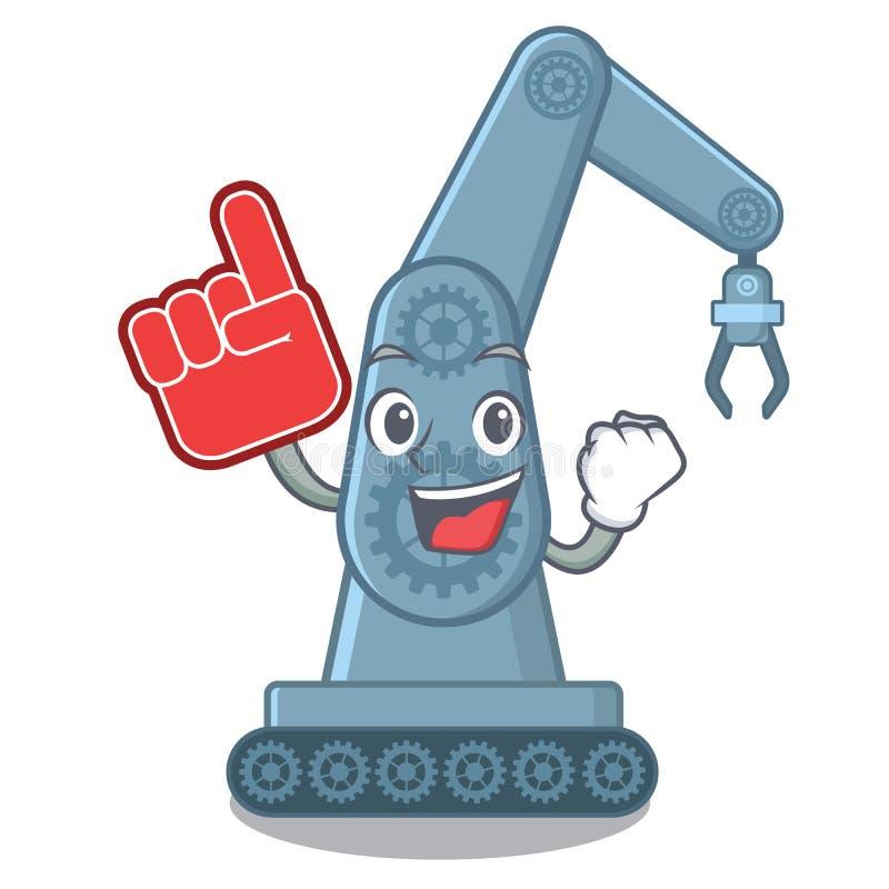 Forme mechatronic de bande dessinée de bras de robot de jouet de doigt de mousse illustration stock