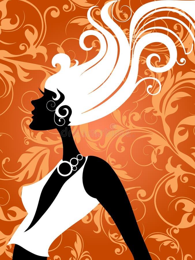 Forme a menina ilustração royalty free