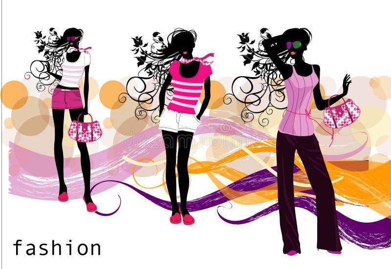 Forme meninas ilustração royalty free