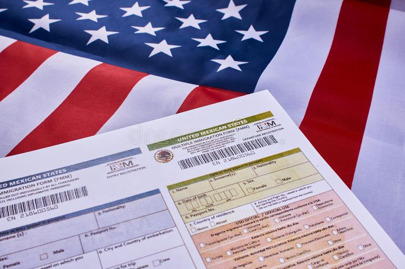 Forme multiple d'immigration photo stock
