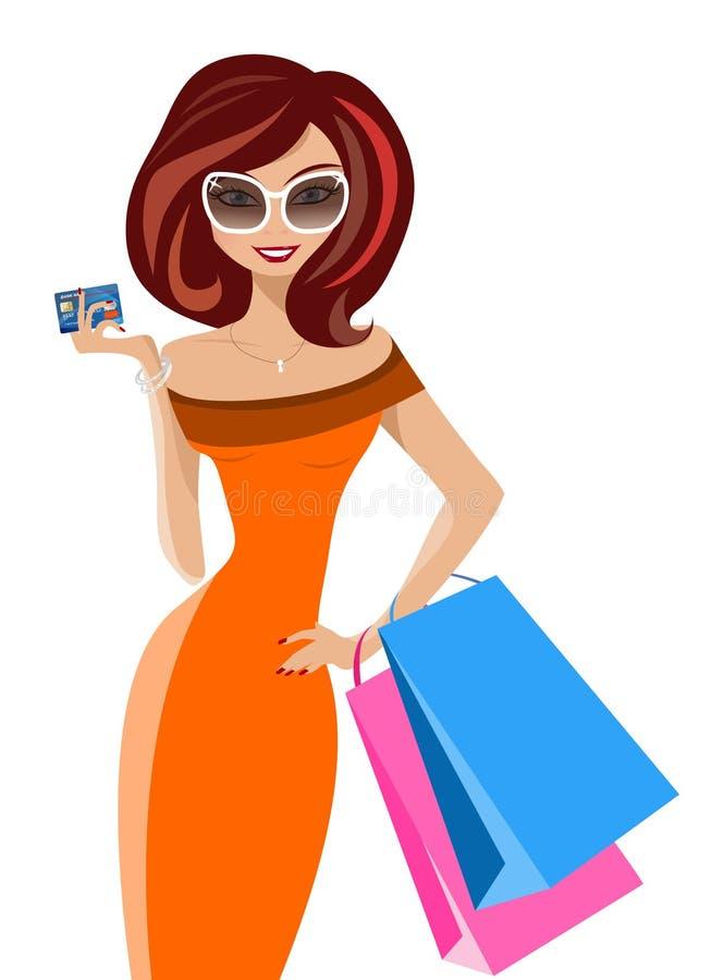 Forme o comprador feliz ilustração do vetor