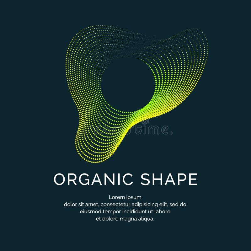 Forme organiche con le onde dinamiche e linee su un fondo scuro Vettore illustrazione vettoriale
