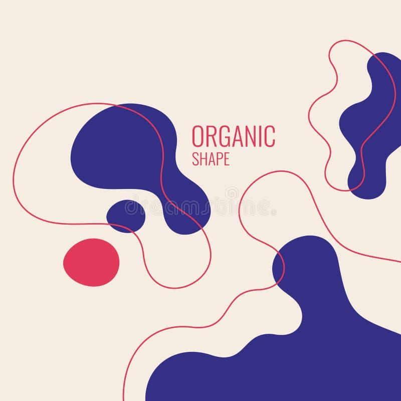 Forme organiche con le onde dinamiche e linee su un fondo scuro Vettore royalty illustrazione gratis