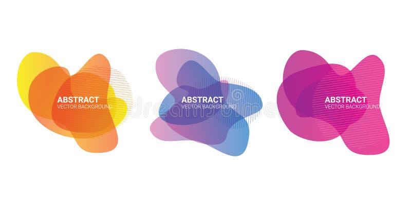 Forme organiche fluide di pendenza di colore della sfuocatura dell'estratto illustrazione di stock