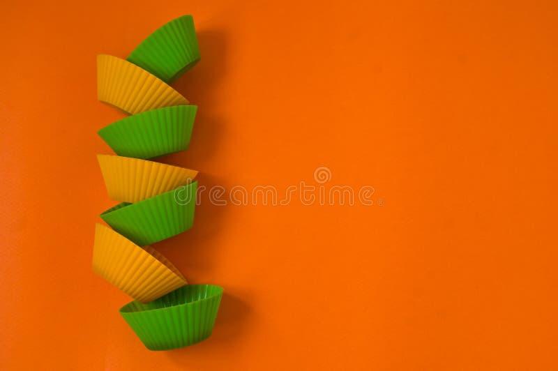 Forme per i dolci, pasticcerie, muffin immagini stock