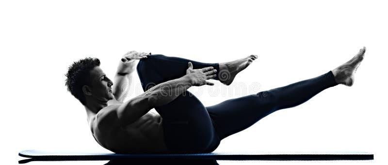 forme physique d 39 exercices de pilates d 39 homme d 39 isolement image stock image du workout. Black Bedroom Furniture Sets. Home Design Ideas