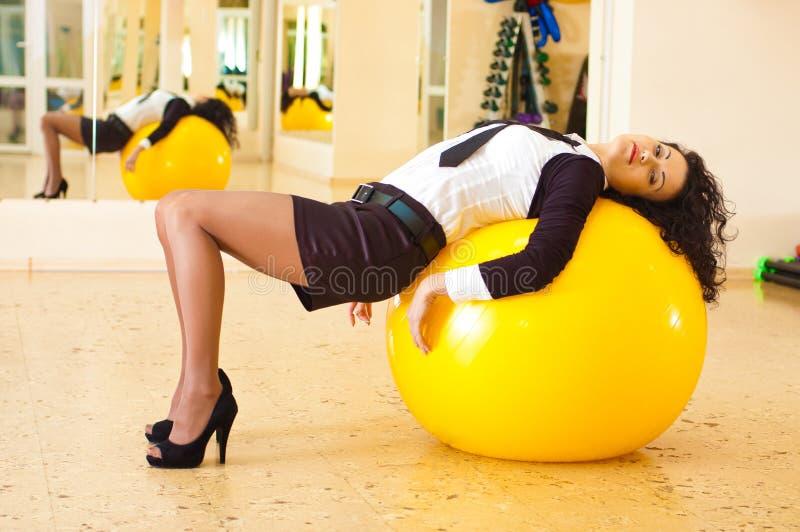 Forme physique de femme d'affaires images libres de droits