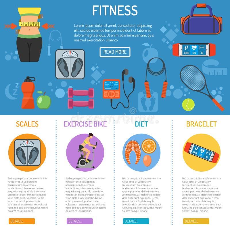 Forme physique et gymnase Infographics illustration libre de droits
