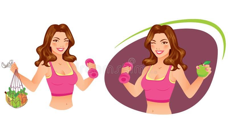 Forme physique et nutrition illustration libre de droits